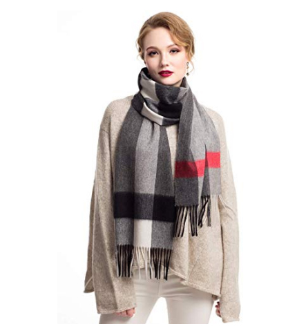 Cashmere Wool Wrap Shawl for Women