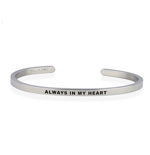 Inspirational Mantra Cuff Bracelet
